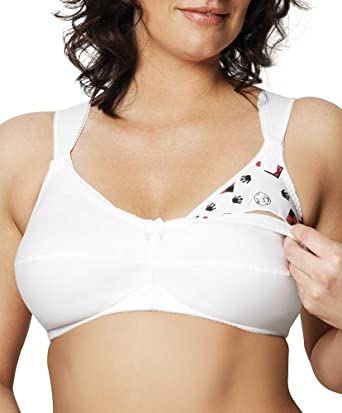 Goddess Women's Love At First Sight Nursing Bra,White,40 C
