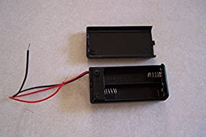 Two Wire Lead On/Off Switch 2 x1.5V AA Battery Cell Case Holder