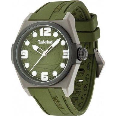 Timberland 13328JPGYB/19 - Orologio da polso da uomo, cinturino in silicone colore verde