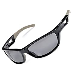 Duduma Polarized Sport Mens Sunglasses for Baseball Fishing Golf Running Cycling with Fashion Women Sunglasses and Men Sunglasses Tr80821 Flexible Superlight Frame (Black frame, Black lens)