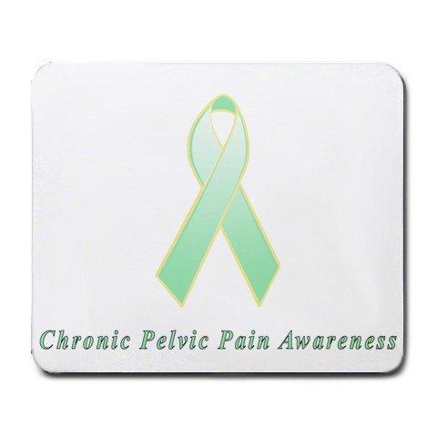 Chronic Pelvic Pain Awareness Ribbon Mouse Pad