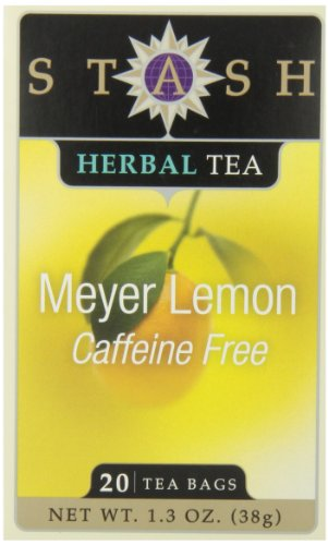 Stash Tea Meyer Lemon Herbal Tea, 20 Count Tea Bags In Foil (Pack Of 6)