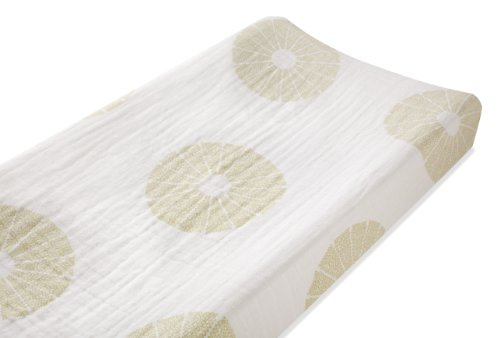 aden + anais organic changing pad cover, oasis (Discontinued by Manufacturer)