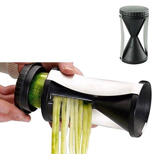 IUNEED Vegetable Cutter Spirelli Spiral Slicer Funnel Shredded Device Julienne Grater Carrot Twister Spiralschneider device Fruits Tools by IUNEED [並行輸入品]