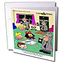 Londons Times Funny Society Cartoons - Goverment Breaks Up Monopoly. Abuse - Greeting Cards-12 Greeting Cards with envelopes