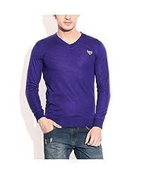 Buff Men's Cotton Sweater (BLU101M_Blue_M)