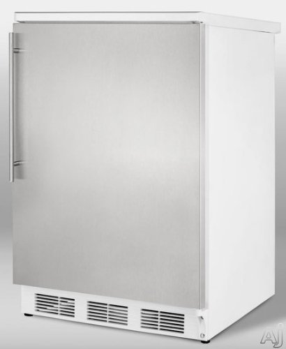 Summit FF6BISSHV - Built-in undercounter all-refrigerator with stainless steel door and thin handle