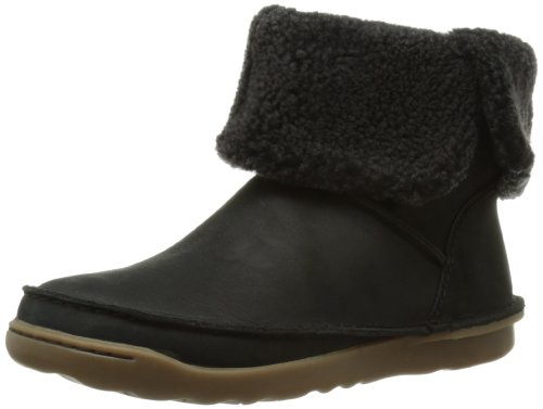 Clarks Womens Casual Clarks Nettle Leaf Leather Boots In Brown - Black Leather (5.5 UK)