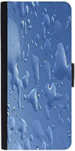 Snoogg Blue Drops Background Gkbhvjyd Designer Protective Flip Case Cover For...