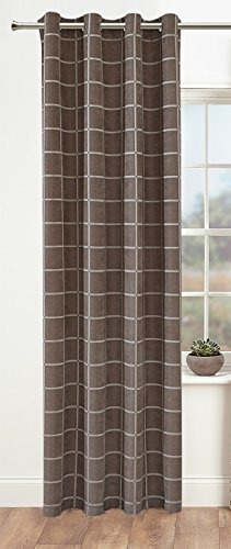 Facebook Store Window Treatments Thermal Insulated Chequer Grommet Blackout curtains (W52