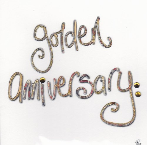 Golden Anniversary Card for 50th Wedding Anniversary