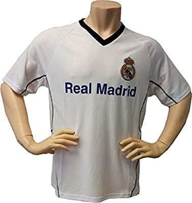 Real Madrid FC Soccer Training Jersey-White w/Stripe