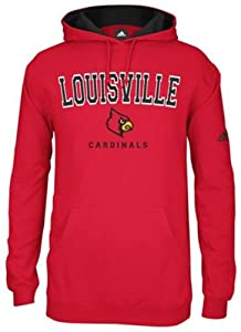 Adidas Louisville Cardinals Adult 2013 Playbook Fleece Hooded Sweatshirt by adidas