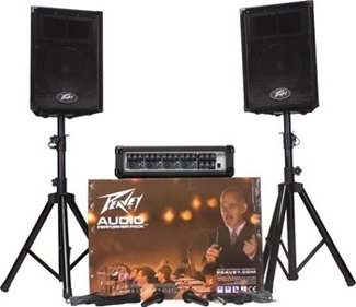 Peavey Audio Performer Package Includes Mixer, 2 Speakers, 2 Stands, & 2 Mics
