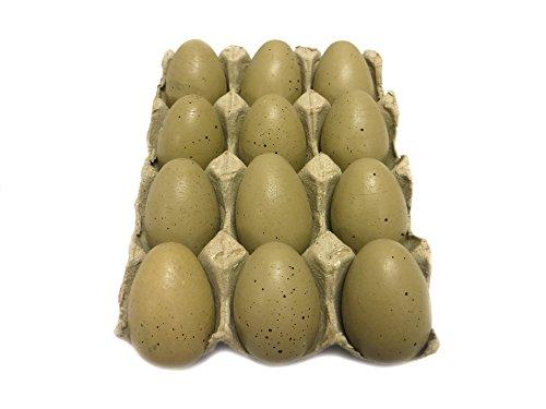 Dozen Wooden Faux Chicken Eggs (Brown Speckled) (Decorative Chicken Eggs compare prices)
