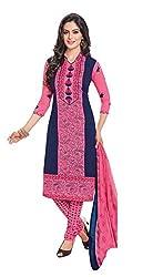 RK Fashion Womens Chiffon Un-Stitched Salwar Suit Dupatta Material ( Rajguru-Rimzim-9035-A-Pink-Free Size )