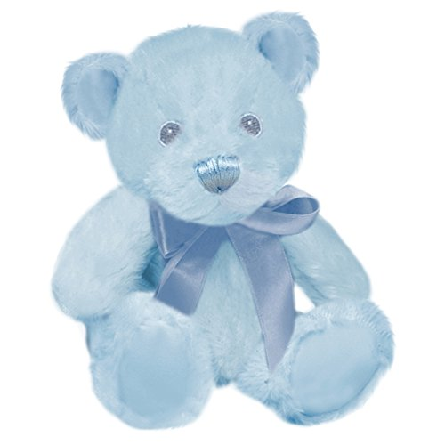 First & Main Blue Pastel Pal Teddy Bear Plush in Sitting Position 6""
