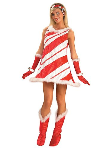 Miss  (Candy Cane Costume For Adults)