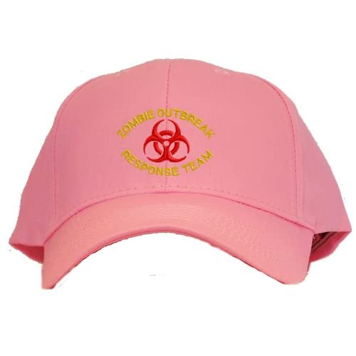 Zombie Outbreak Response Team Embroidered Baseball Cap   Pink