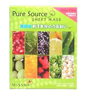 ミシャ ピュア ソース シートマスク 10枚セット