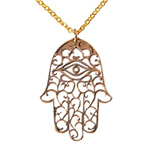 Small Hamsa Peace Bronze on Chain