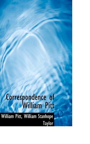 Correspondence of William Pitt