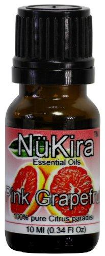 Grapefruit, Pink Essential Oil (Citrus paradisi) Therapeutic Grade By NuKira (10 ml)