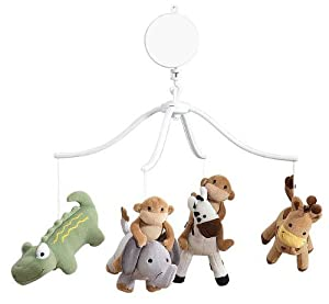 Bedtime Originals Baby Zoo Musical Mobile - Chocolate