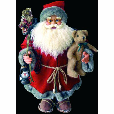 PW Traditional Father Christmas Figure Decoration 61cm