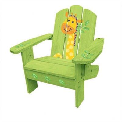 Kids Adirondack Chair in Green Safari
