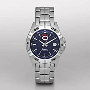 Minnesota Twins Fossil Mens Three Hand Date Watch MLB1046 by Fossil