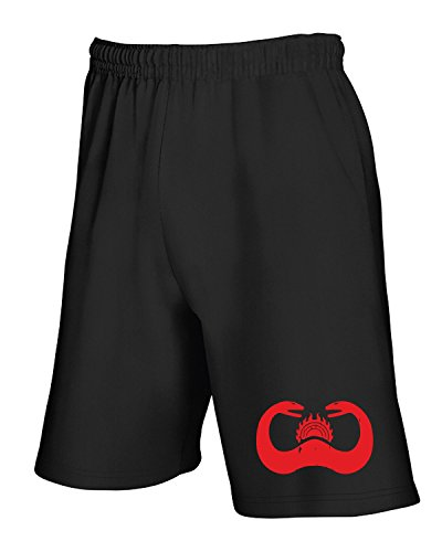 Cotton Island - Pantalone Tuta Corto TF0031 inspired by Cult of the Snake symbol in Conan the Barbarian, Taglia M