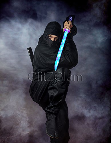 Ninja Sword Toy Light-Up (Led) Deluxe With Motion Activated Clanging Sounds - Blue