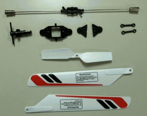 Haktoys H-825G Crash Kit 5 - Main Blades - Tail Rotor - Spindle Sleeve - Connect Buckles Blade Grip Set