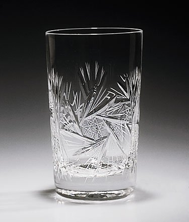 Handcut Crystal Gin and Tonic Glasses