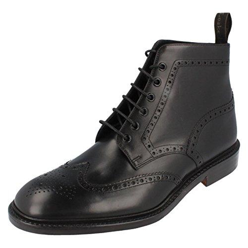 loake-burford-da-uomo-in-pelle-brogue-stivali-alla-caviglia-nero-black-445-eu