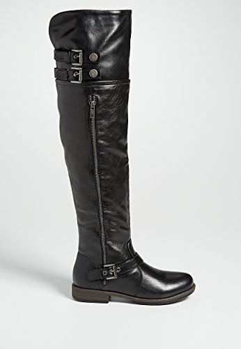 Maurices Women's Tia Knee High Boot With Buckles In Black 6 1/2 / Black