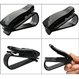 Cosmos ® 2 PCS Clear Black Color Sunglasses/Eyeglasses Clip Car Holder with Cosmos Fastening Strap