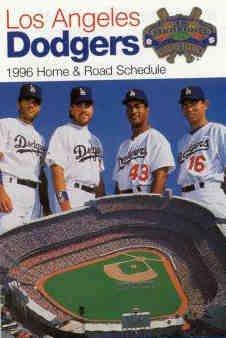 1996 Los Angeles Dodgers Pocket Schedule