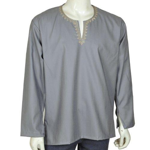 Boys Long Sleeve Casual Cotton Shirt Kurta India Size M Chest 97 Cms