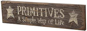 Your Hearts Delight Primitives a Simple Way of Life Wooden Sign, 21 by 5-1/2-Inch