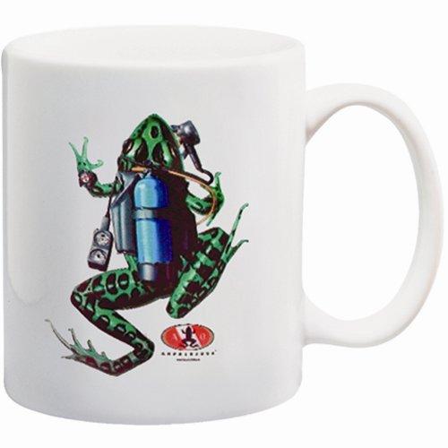 White Coffee Ceramic Mug A/O Scuba Frog