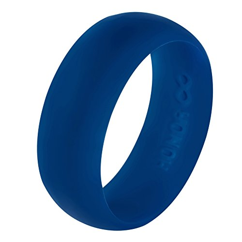 Silicone Wedding Ring by HonorGear, Premium Quality Medical Grade Wedding-Bands for Active Men, Athletes, Engineers, Electricians -183N Tensile Strength, Comfortable Fit & Skin Safe, Non-toxic, Antibacterial, Prevents de-gloving - Perfect Gift Idea! (Mid