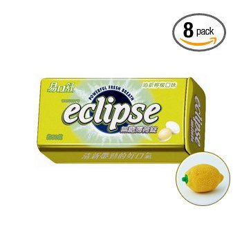 Eclipse Lemon Mints -Eclipse Spearmint Sugarfree Mints Bonus Pack (8 Packs)