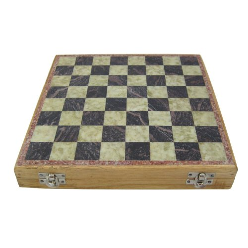 Unique Stone Chess Sets and Board with Storage Box 12 Inches X 12 Inches 1