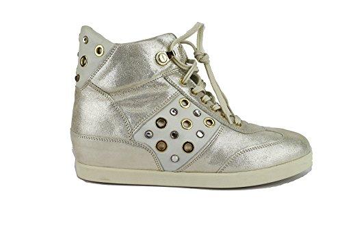 cesare-paciotti-sneakers-femme-40-eu-platine-cuir-textile-ah652