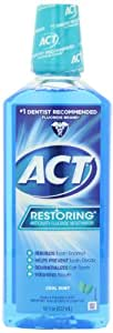 ACT Restoring Mouthwash, Cool Splash Mint, 18-Ounce Bottle (Pack of 4)
