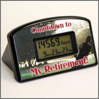 Retirement Countdown Clock - Golf