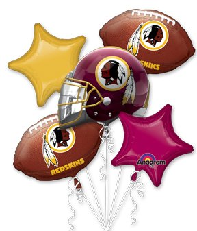 Anagram International Bouquet Redskins Party Balloons, Multicolor at SteelerMania