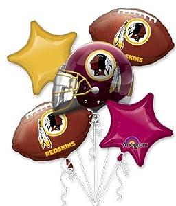 Amazon.com: Washington Redskins Football Balloon Bouquet- NFL Team